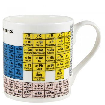 periodic table mug from eggcup blanket uk