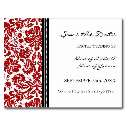 341 best Black,Red Floral Wedding Postcards images on Pinterest - wedding postcard