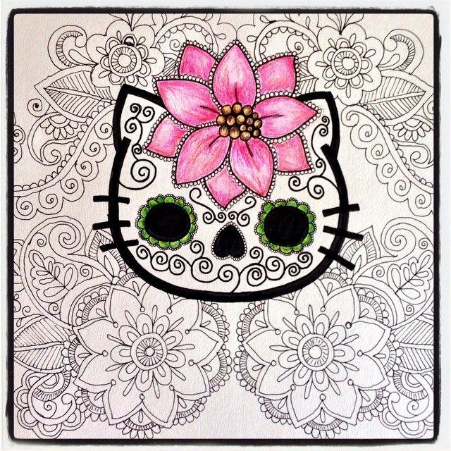 Hello Kitty Calavera de azúcar