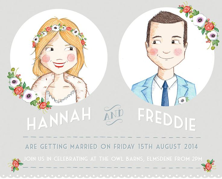 Custom Illustrated Save the Date