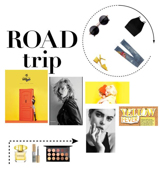 """ROAD trip"" by annelenelala on Polyvore featuring MoMo, Boohoo, Dolce&Gabbana, Versace, Yves Saint Laurent and MAC Cosmetics"