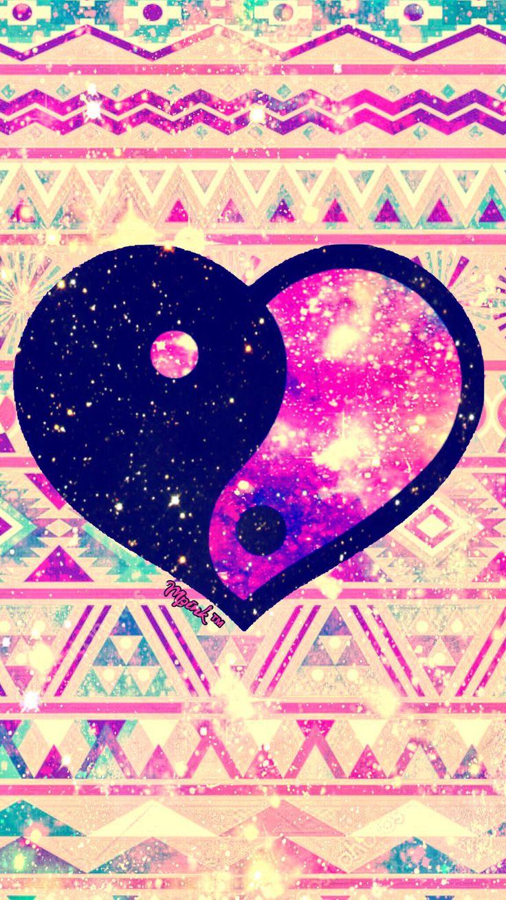 Shimmer Tribal Heart Galaxy Wallpaper Androidwallpaper Iphonewallpaper Wallpaper Galaxy