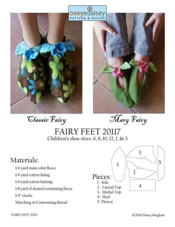 Fairy Slippers PDF Pattern by oxeyedaisey on Etsy, $5.50