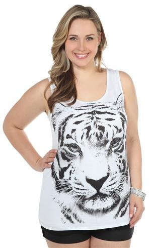 Deb Shops plus size tank with #tiger screen and #stones lovelovelovelovelovelovelovelovelovelove THIS!