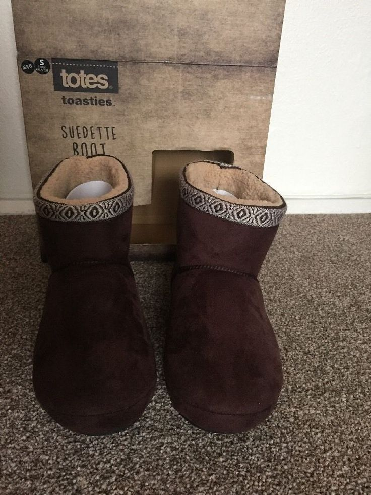 TOTES Men's Boots Slippers BNWT Size S UK7-8 EU40.5-42 RRP £25