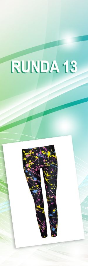 Leginsy splash color, rozmiary: XS, M/S, L; Projektant: COLORSHAKE; Wartość: 149 zł. Poczucie dobrego stylu: bezcenne. Powyższy materiał nie stanowi oferty handlowej.