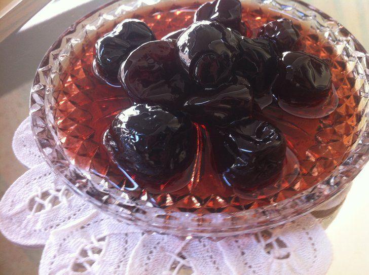 Sour Cherry Spoon Sweet Preserve (Vyssino Glyko koutaliou) - My Greek Dish