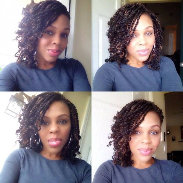 Judy's crotchet kinky twist style - kinky twists, marley hair, braid hairstyles http://www.shorthaircutsforblackwomen.com/bentonite-clay-for-hair/