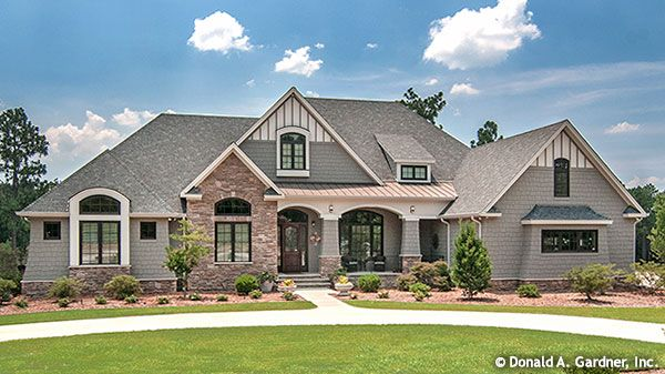 Arts & Crafts Exterior of The Birchwood - House Plan 1239