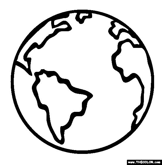 Planet Earth Coloring Pagefor My Multicultural Week