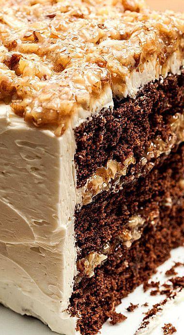 ❊ German Chocolate Loaf Cake