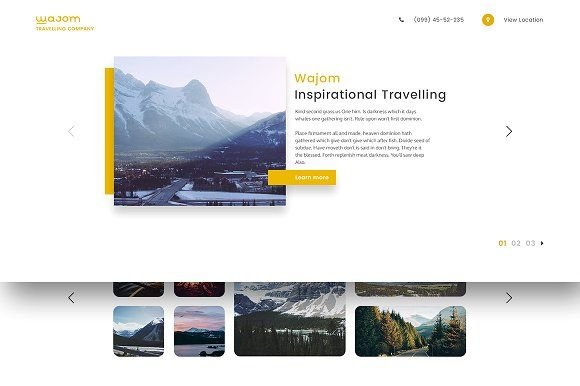 Wajom - Travelling Website Template by QuietLabs on @Graphicsauthor