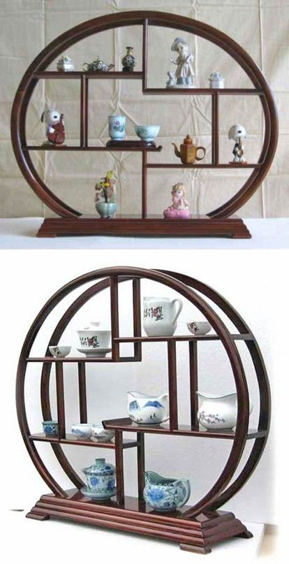 Home Decor Asian Accent Display Rack Stand, Made from Rosewood (A01)