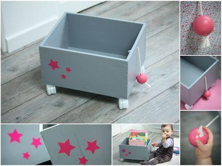 Caisse-jouets-grise-rose
