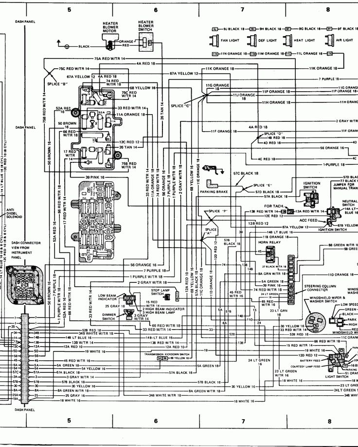 16  78 Chevy Truck Wiring Diagram