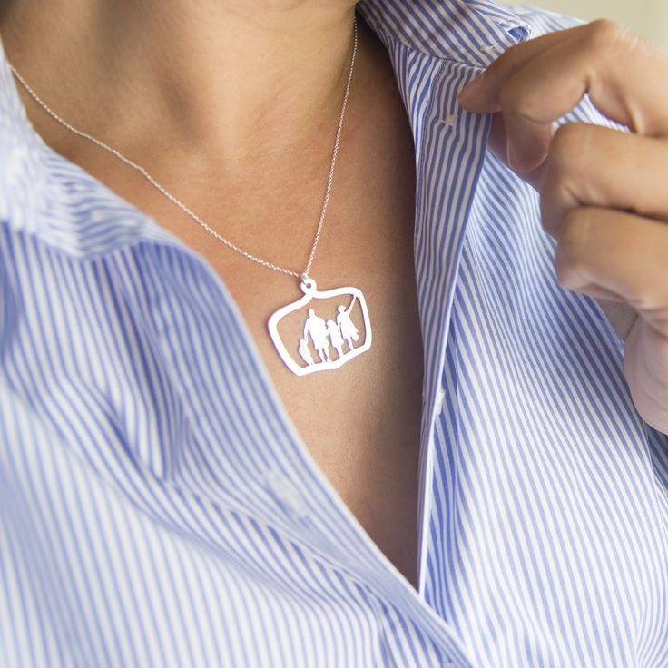 Full Body Silhouette Necklace - Family from Le Papier Studio ... for 3 days only, 20% off using this link:  rwrd.io/2ggw2he and this code:  LPS20NOW