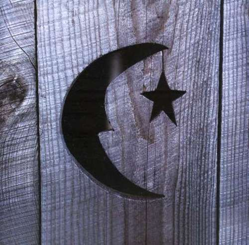 The outhouse doormoon and star & 25+ best Outhouse ideas on Pinterest | Outhouse decor Modern ... Pezcame.Com
