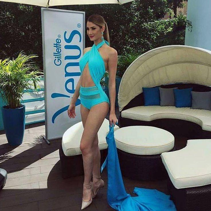 Mariam Habach Miss Venezuela 2015, En traje de Baño Azul Turquesa, Demostrando porque lleva el titulo de Belleza Integral.. by Antoni Azocar