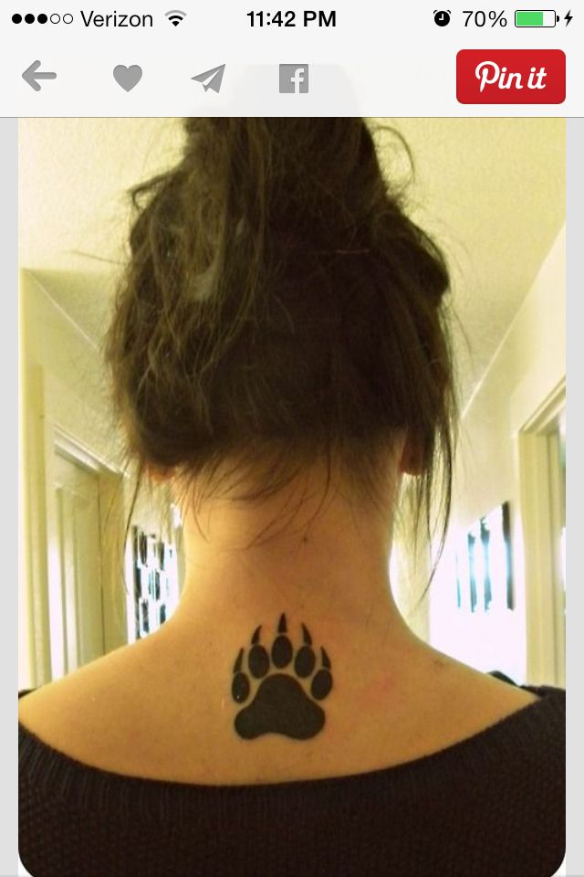 Simple bear paw tattoo