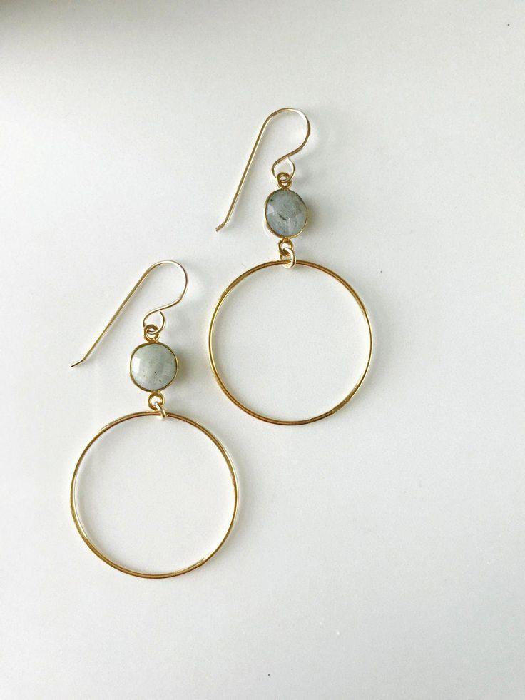 Lunar studs in sterling silver circle stud earrings
