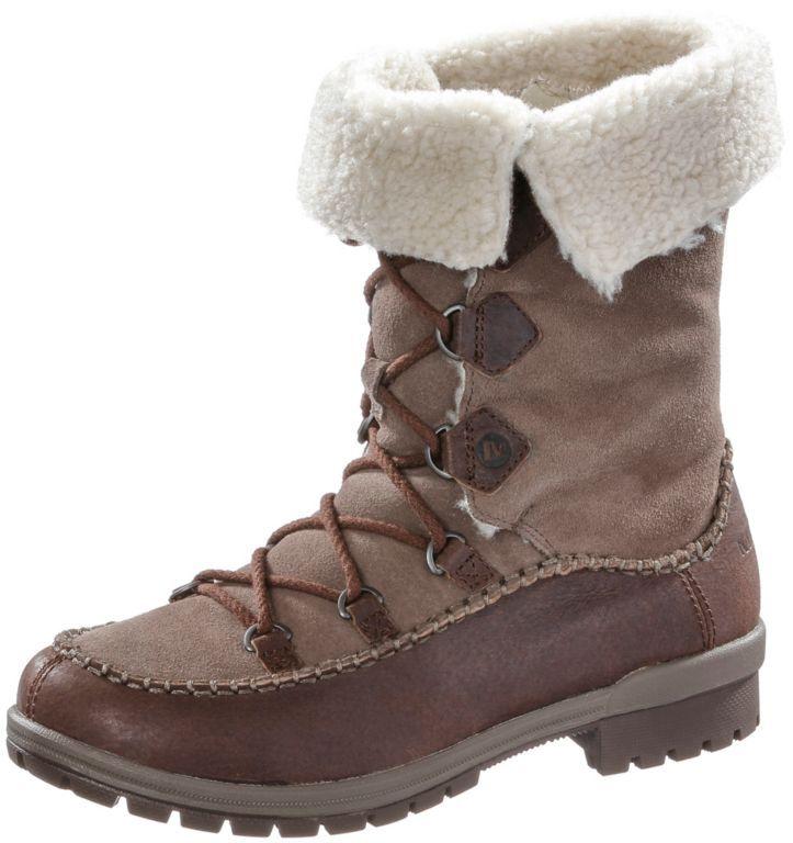 #Merrell #Emery #Lace #Leather #High #Winterschuhe #Damen #dunkelbraun