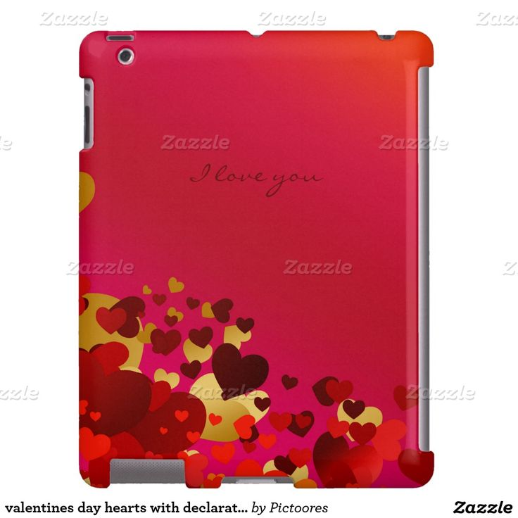 valentines day hearts with declaration of love iPad case