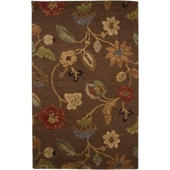 Alena Brown Floral Rug 8' x 11', $679: Blue Garden, Area Rugs, Garden Party, Art Silk, Garden Parties, Cocoa Brown, Jaipur Rugs, Brown Floral