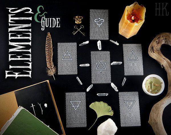 Urban Arcana - Tirage des Éléments - Idéale pour la lecture quotidienne des cartes, ce tirage permet la mise en perspective de ces énergies et nous aide à mieux ressentir l'état de nos sphères élémentales.