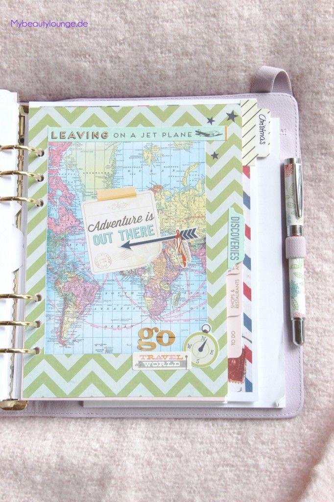 Travel planner | 2015 planner addiction second level: Kikki.K planner with Erin Condren insert