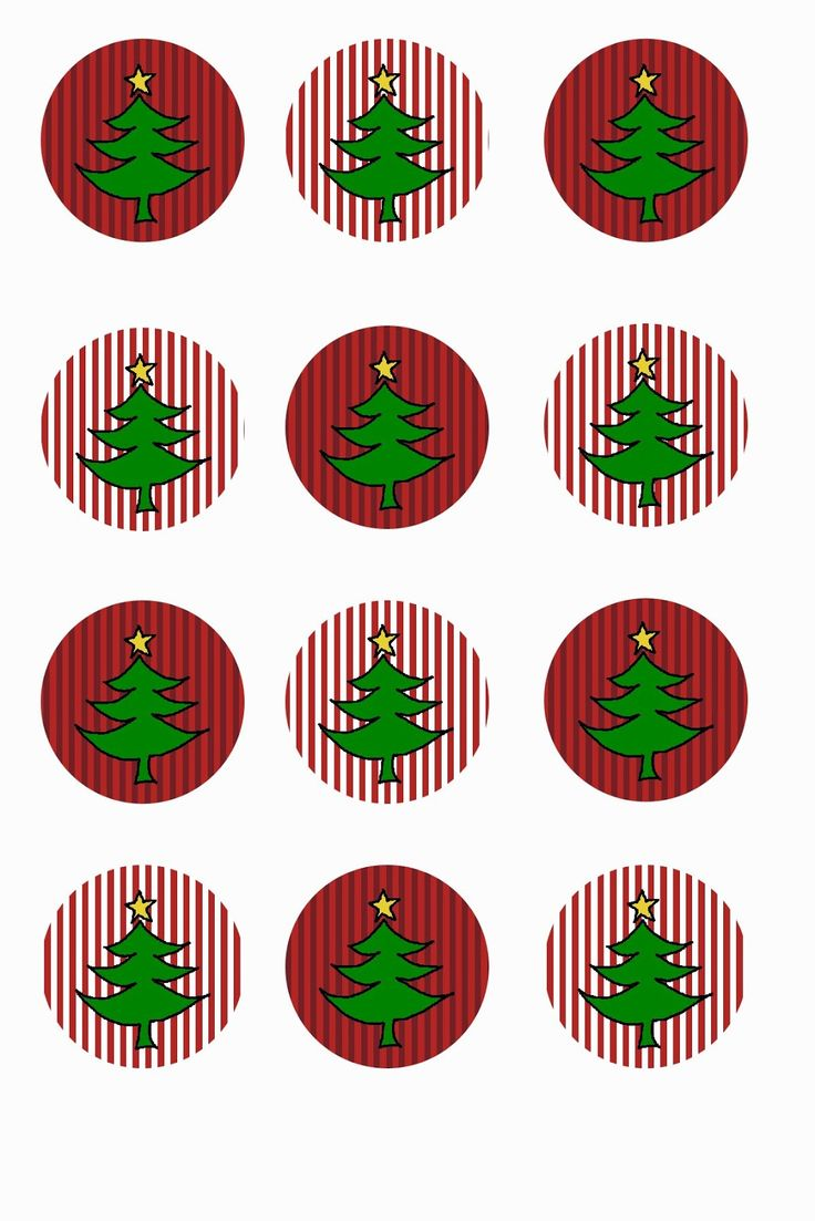 Pink Celtic Witch: Free Christmas Tree Bottle Cap Collage Digital Image Sheet