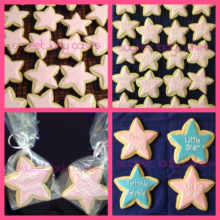 Twinkle, Twinkle Little Star Cookies...great for baby showers, gender reveal parties, etc.