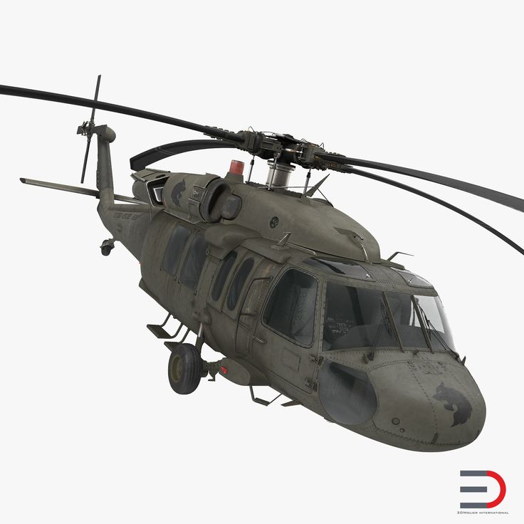 Sikorsky UH-60 Black Hawk US Military Utility Helicopter 3d model