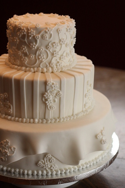 Winter Wedding Cake by lorijohernandez, via Flickr