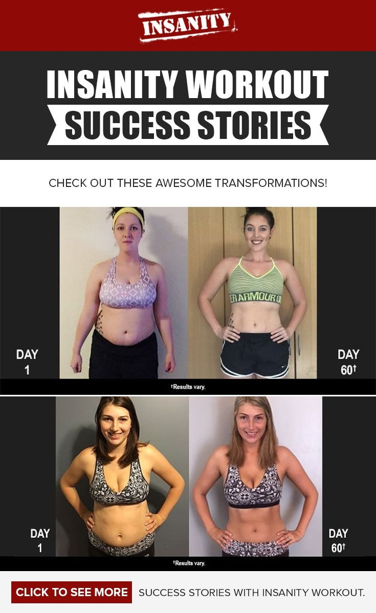 Get fit with Insanity workout! Check out these epic before and after workout results.  Success story// Transformation Tuesday // Beachbody // Beachbody Blog