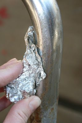 Will have to try this one out... Removing rust from metal using aluminum foil and water! It really works!