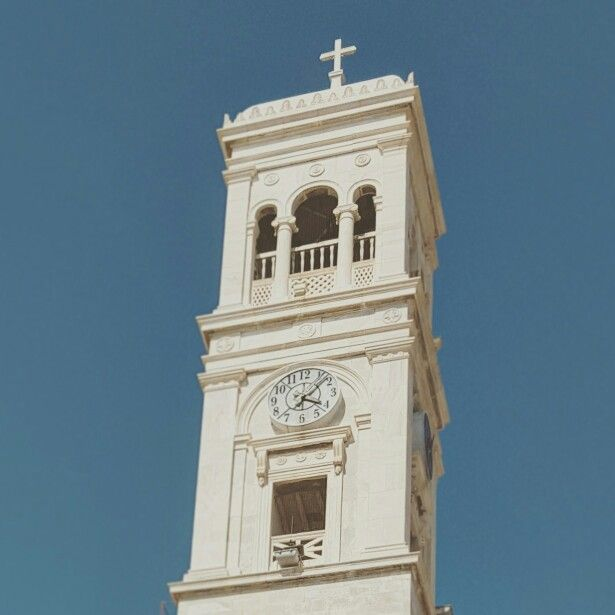 Little church tower in Syros. Honestly could live here with ease.