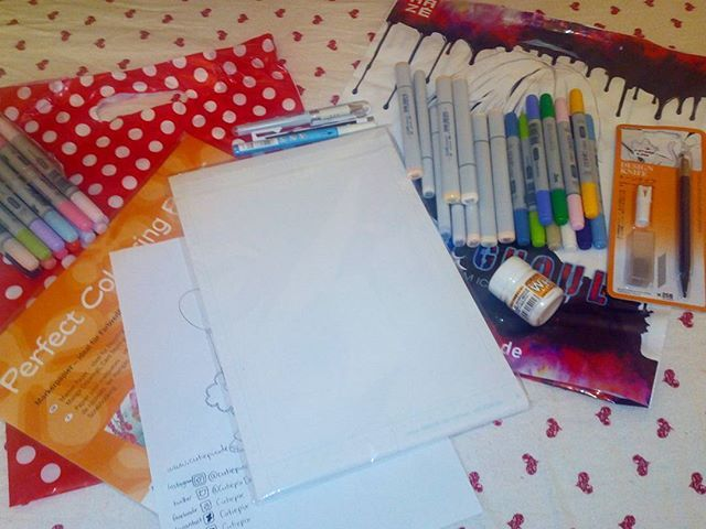 . Hi everyone ;) Today I was shopping and that's what I bought in the j-store berlin! Over 160€ ! It was a gift from my parents ;D *happy* copicmarkers are so expensive! ;( . Now I must practice! I hope my drawing with the new markers will look good :) . ~~~~~~~~~~~~~~~~~~~~~~~ #cutiepix #cutiepixdesign #copicmarkers #copics #copic #copicmarker #deleterpaper #shopping #buy #jstore #berlin #germany #jstoreberlin #einkaufen #kaufen #stifte #pen #marker #markers #papier #paper #filzstifte…