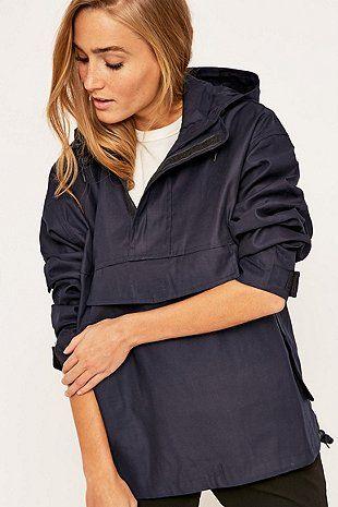 Urban Renewal Vintage Surplus Navy Smock Jacket - Urban Outfitters