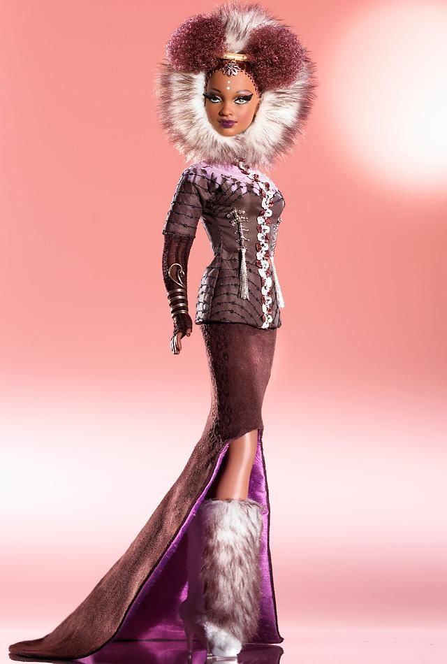Nne™ Barbie® Doll - Byron Lars makes the most gorgeous Black Barbies in the world. I want them ALL.