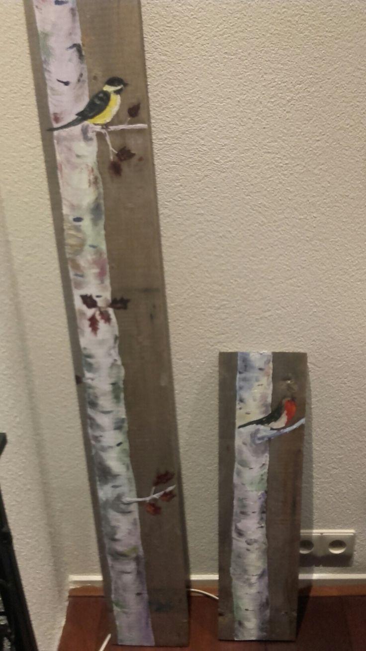 Vogel op hout