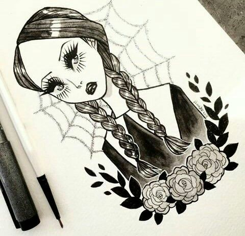 Wednesday Adams art