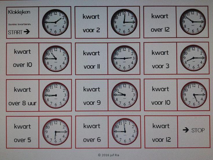 DOMINO Versie 1: Wiskunde - kloklezen Versie 2: Taal - Samengestelde woorden