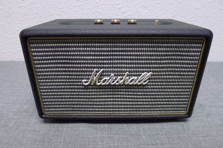 Marshall Acton M-ACCS-10126 Portable Bluetooth Speaker System - Black *
