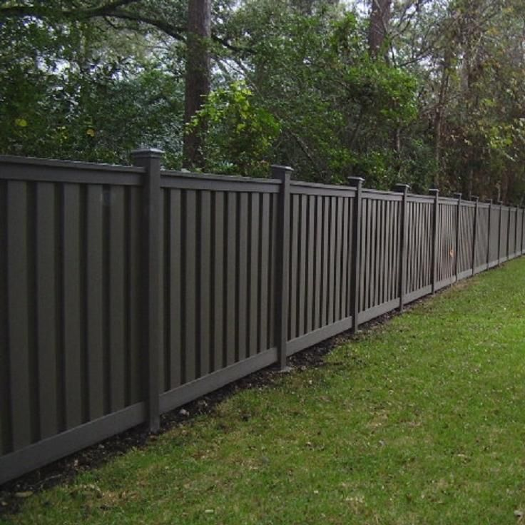 Trex Fencing in Winchester Grey