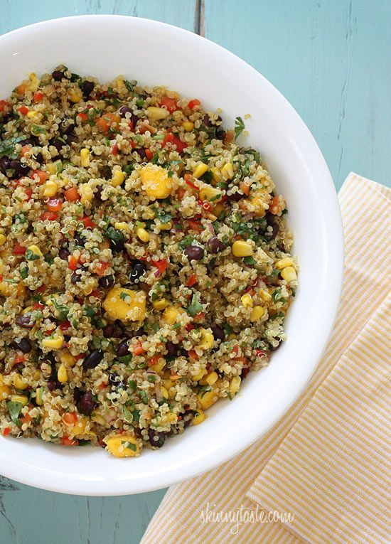 Southwestern Black Bean, Quinoa and Mango salad.. This is one of my