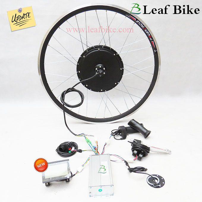 27 Inch 36v 750w Front Hub Motor Electric Bike Conversion Kit Leaf Electric Bike Electric Bike Conversion Electric Bike Kits