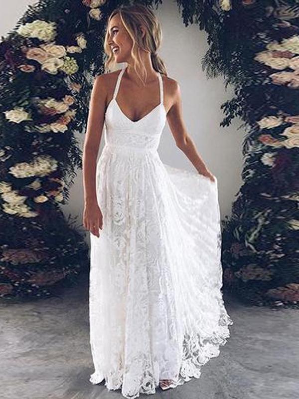 A Line Prom Dress Modest Beautiful Lace Long Prom Dress #VB1876