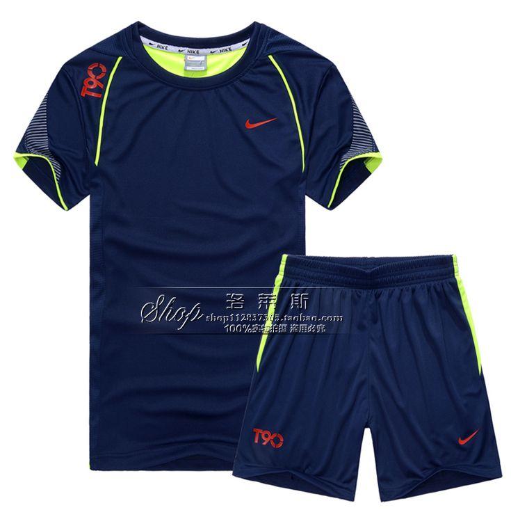 Спортивный костюм с коротким рукавами шорты лето дышащая абсорбент футбол запуск тренировки одежды костюм
