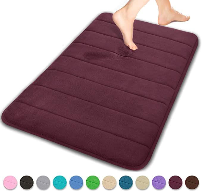 Yimobra Memory Foam Bath Mat Large Size 31 5 By 19 8 Inches Soft And Comfortable Super Water Absorption Non Memory Foam Bath Mats Floor Rugs Foam Bath Mats Large memory foam bath mat