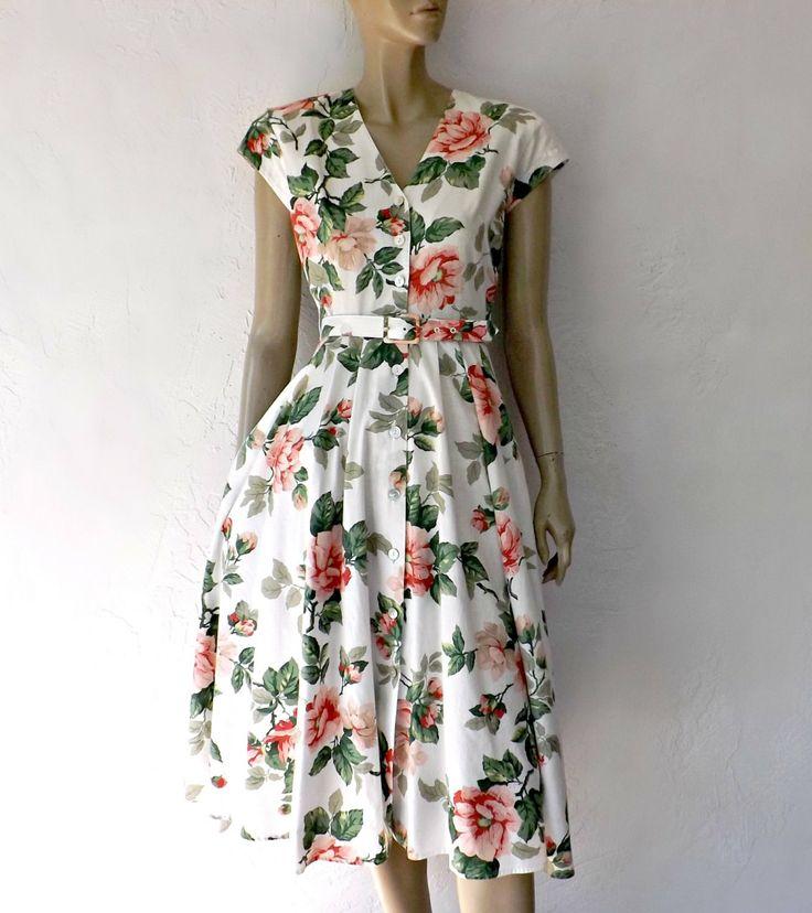 Cotton Floral Dress Wi...
